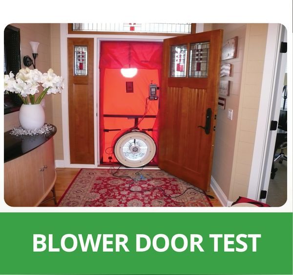 blower door testing eastside insulation. Black Bedroom Furniture Sets. Home Design Ideas